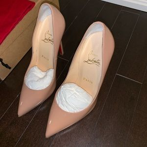 Christian Louboutin Pigalle 120mm Patent Calf Nude